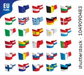 flags of the european union | Shutterstock .eps vector #1049090483