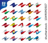 flags of the european union | Shutterstock .eps vector #1049090507