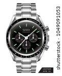 realistic watch clock...   Shutterstock .eps vector #1049091053