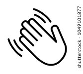 hand wave   waving hi or hello... | Shutterstock .eps vector #1049101877