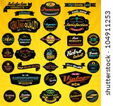 black retro labels collection.... | Shutterstock .eps vector #104911253