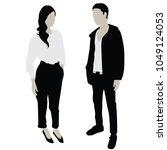 young couple in love vector... | Shutterstock .eps vector #1049124053