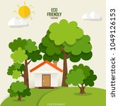 green eco city living concept.... | Shutterstock .eps vector #1049126153