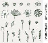 set of simple doodles of... | Shutterstock .eps vector #1049126903