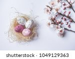 View Of A Straw Nest With...