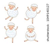 funny little sheep set in... | Shutterstock .eps vector #1049140127