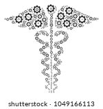 medical caduceus emblem... | Shutterstock .eps vector #1049166113