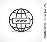www internet favicon icon... | Shutterstock .eps vector #1049169323