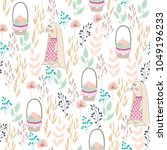 vector seamless pattern with... | Shutterstock .eps vector #1049196233