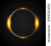 neon glow ring. a luminous... | Shutterstock .eps vector #1049201693