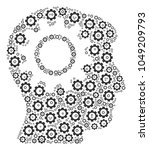 intellect gear mosaic of gear... | Shutterstock . vector #1049209793