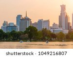 view of lake in lumpini park... | Shutterstock . vector #1049216807
