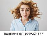 indoor shot of overwhelmed... | Shutterstock . vector #1049224577