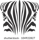 Creative Zebra Illustration - stock vector