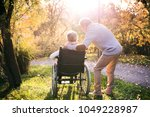 senior man and woman in... | Shutterstock . vector #1049228987