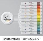 10 steps infographics element... | Shutterstock .eps vector #1049229377
