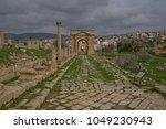 north gate  jerash  jordan | Shutterstock . vector #1049230943