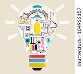 factory in lamp  vector... | Shutterstock .eps vector #104923157