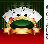 casino  banner with cards. | Shutterstock . vector #104923487