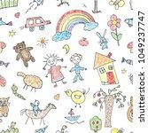 seamless color vectorial... | Shutterstock .eps vector #1049237747