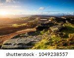 hikers in peak district... | Shutterstock . vector #1049238557