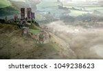 stunning medieval castle ruins... | Shutterstock . vector #1049238623