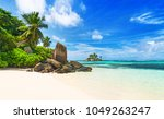 seychelles  tropical beach   | Shutterstock . vector #1049263247