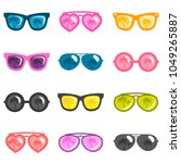 set of colorful sunglasses | Shutterstock .eps vector #1049265887