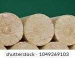 wood sawdust eco briquettes...   Shutterstock . vector #1049269103