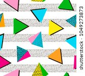 colorful geometric seamless... | Shutterstock .eps vector #1049273873