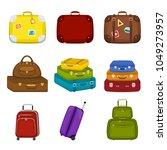 set of various  travel bags... | Shutterstock .eps vector #1049273957
