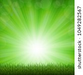 nature background with grass... | Shutterstock .eps vector #1049282567