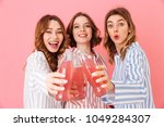 three content women with good... | Shutterstock . vector #1049284307