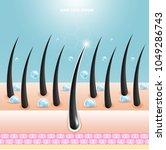 hair care serum follicle... | Shutterstock .eps vector #1049286743