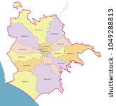 rome municipality vector map. | Shutterstock .eps vector #1049288813