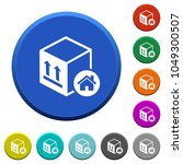 package warehouse round color... | Shutterstock .eps vector #1049300507