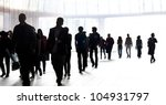 people walking against the... | Shutterstock . vector #104931797