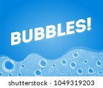 shampoo soap bubbles in bath or ...   Shutterstock .eps vector #1049319203
