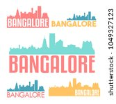 bangalore india flat icon... | Shutterstock .eps vector #1049327123