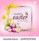 illustration of easter greeting ... | Shutterstock . vector #1049329343