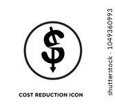 cost reduction icon  isolated... | Shutterstock .eps vector #1049360993