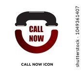 call now icon  isolated on... | Shutterstock .eps vector #1049361407