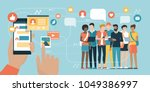user social networking and... | Shutterstock .eps vector #1049386997