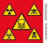 warning signs of danger. signs... | Shutterstock .eps vector #1049390183