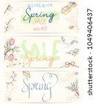 spring sale card can be used... | Shutterstock .eps vector #1049406437
