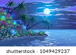 Tropical Ocean Coast With...