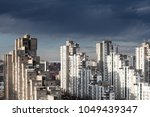 view from a tall building in... | Shutterstock . vector #1049439347