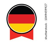 round germany logo flag vector... | Shutterstock .eps vector #1049459927