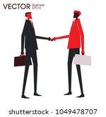 partners shaking hand negotiate ...   Shutterstock .eps vector #1049478707