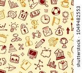hand drawn business seamless...   Shutterstock .eps vector #1049482553